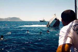 """The last second of a ship's life"". This ship sank June 2... by Rico Besserdich"
